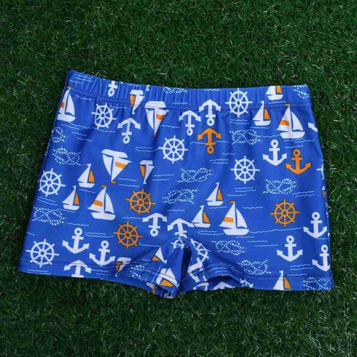 Boys Cartoon Swim Trunks