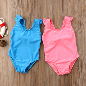 Bow Knot Ruffled Swimsuit