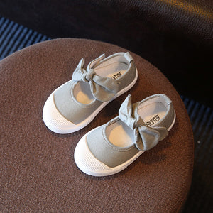 Canvas Bow Shoes