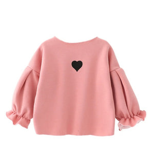 Ruffled Heart Sweater