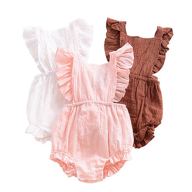Sleeveless Romper With Tie Back