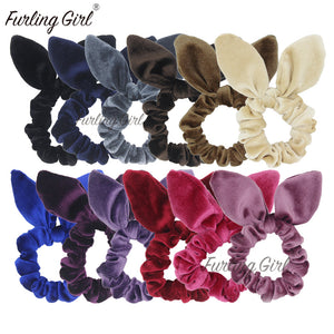 Velvet Rabbit Ear Scrunchie