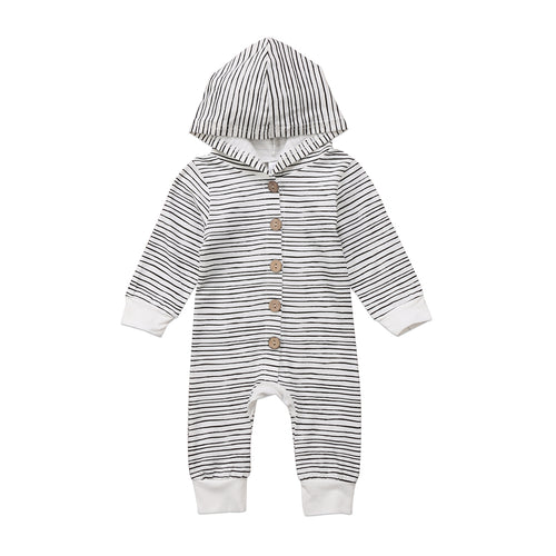 Hooded Stripe Romper