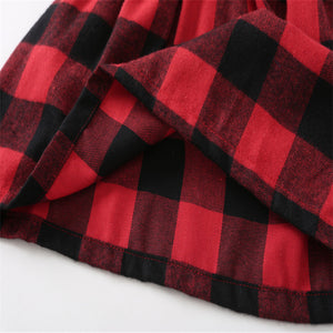 Plaid Overall Skirt
