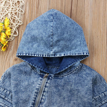 Hooded Denim Romper
