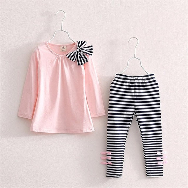 Stripe Bowed Outfit