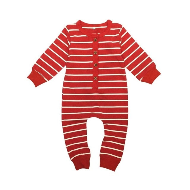 Red Striped Romper