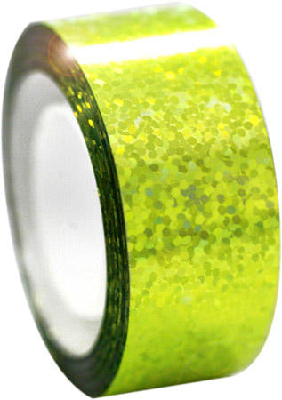 Pastorelli Diamond Metallic Fluo Yellow Hoop Tape