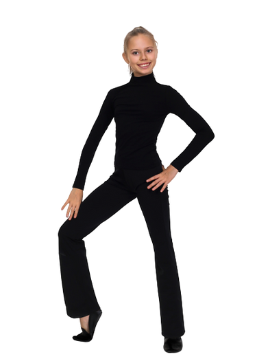 SOLO Black Turtleneck Top with Long Sleeves