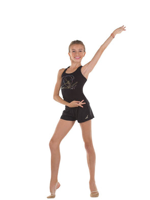 Solo Gymnast Print Black Top