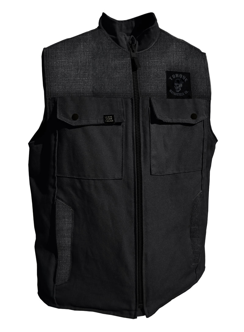 THRASHER VEST | BLACK DENIM/ONYX | STANDARD