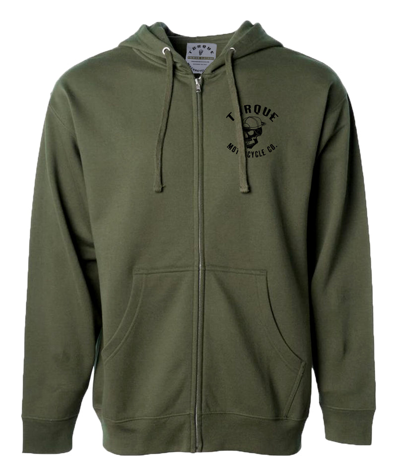 CREST ZIP UP HOODIE | EARTH | MID-WEIGHT