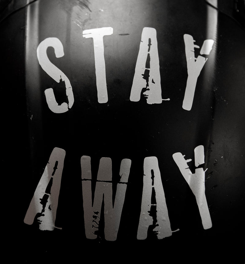 STAY AWAY DECAL