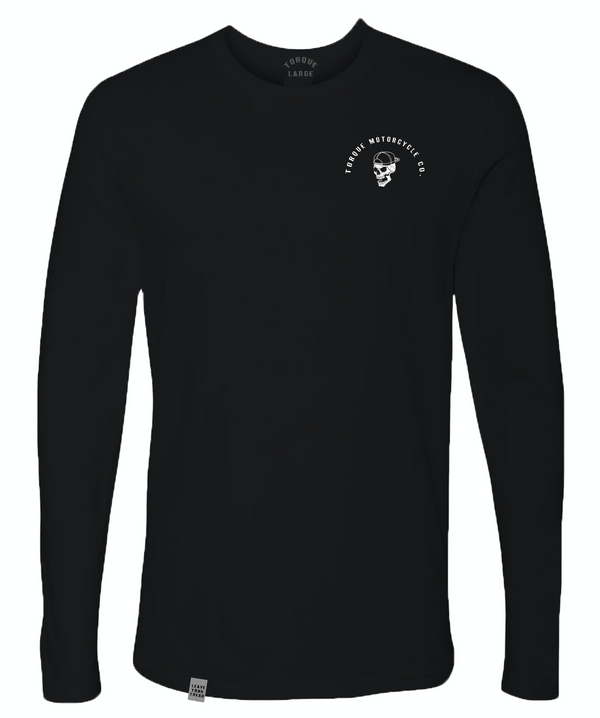 CREST LONG SLEEVE TEE | BLACK