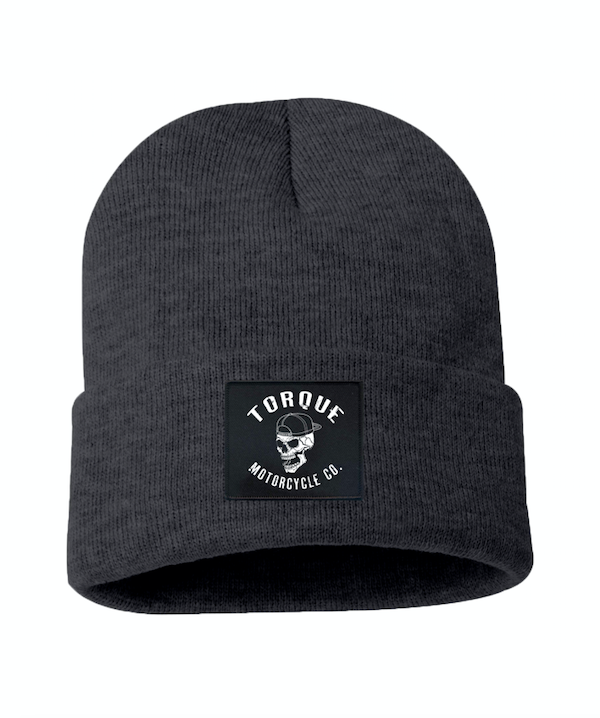 CREST PATCH BEANIE | CHARCOAL