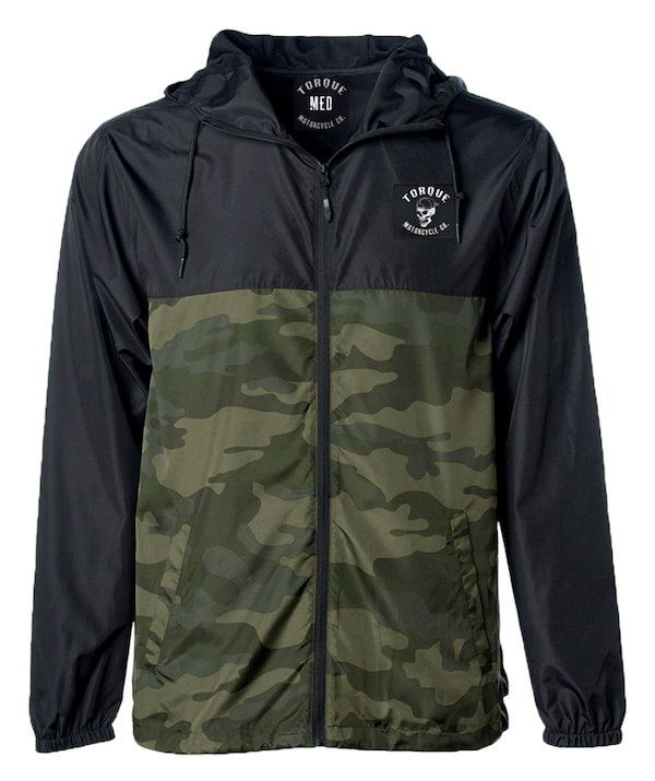 CREST PATCH WINDBREAKER | CAMOBLK