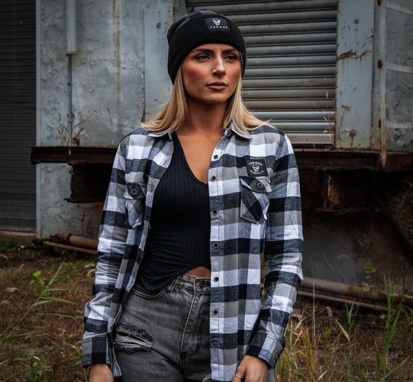 WOMENS CREST FLANNEL | ONYX