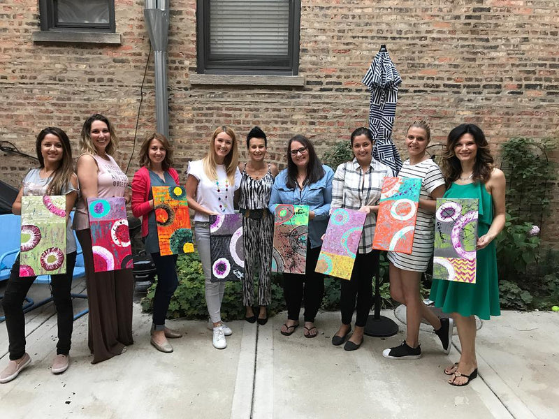 Expressionistic Painting Party with a NY Fashion week artist