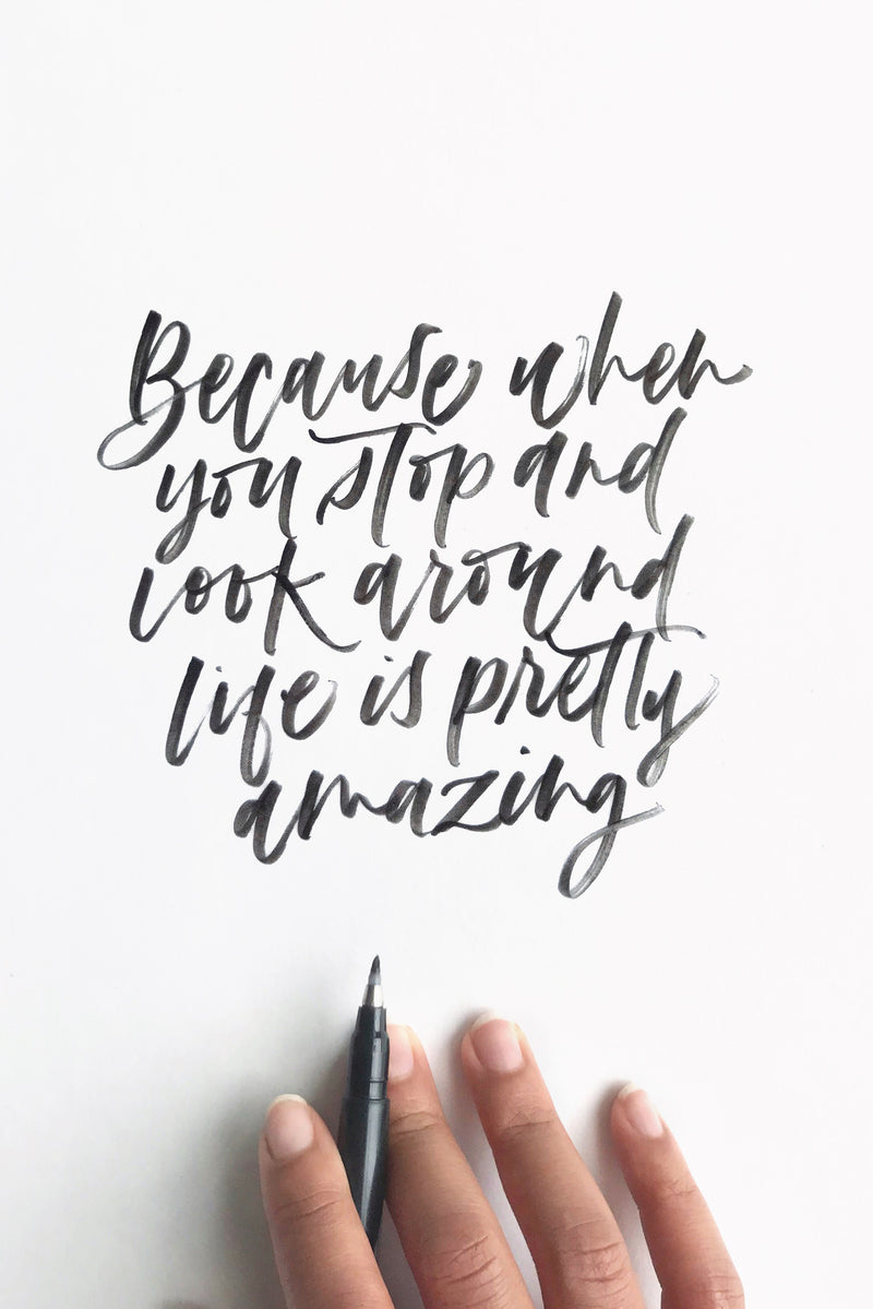 Boozy Brush Lettering Mini Session