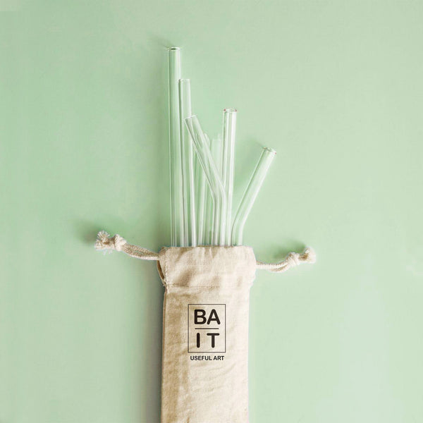 6 Glass Straws
