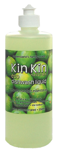 Kin Kin Naturals Dishwash Liquid - Lime & Eucalypt Essential Oils 550ml