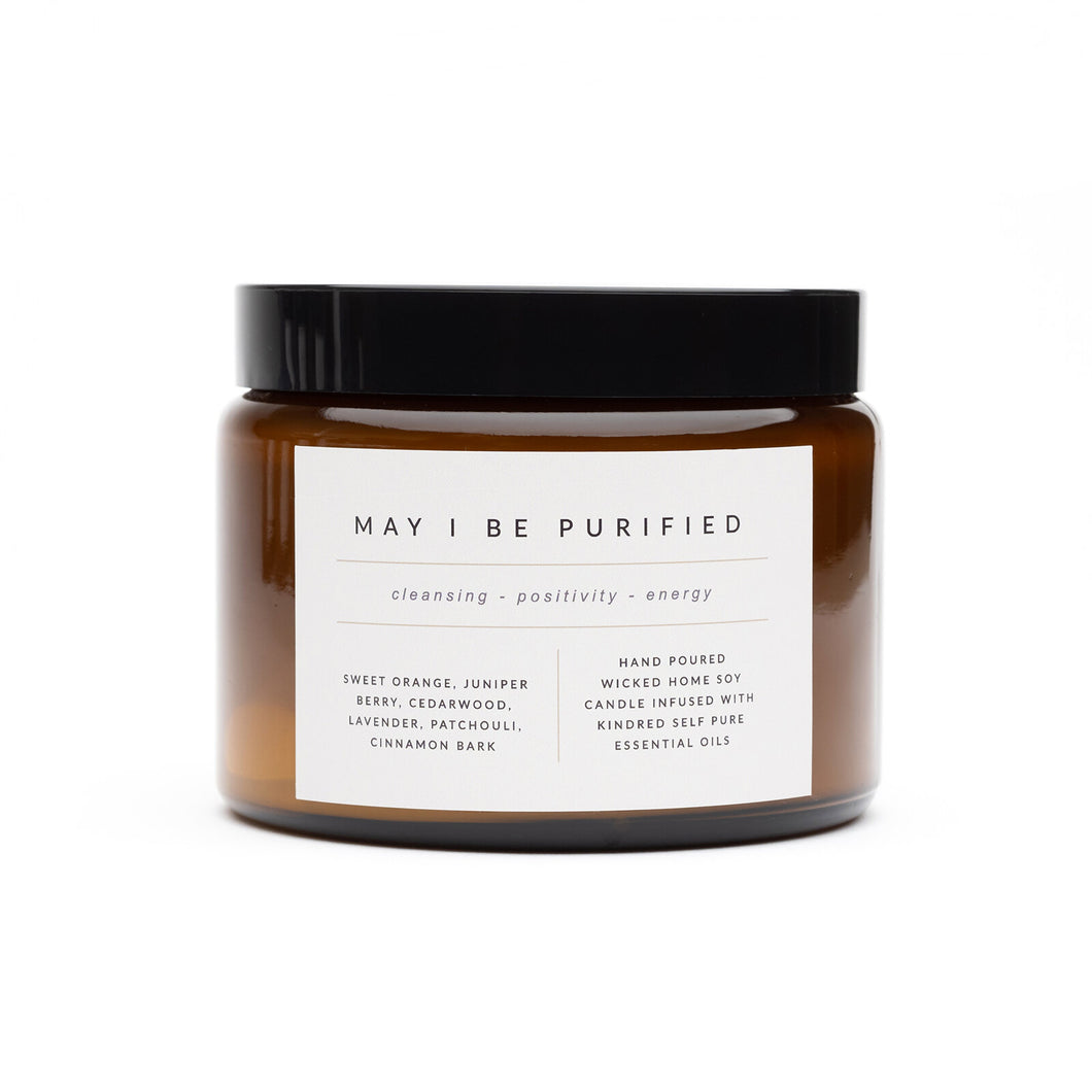 'May I be Purified' Essential Oil Candle 500ml