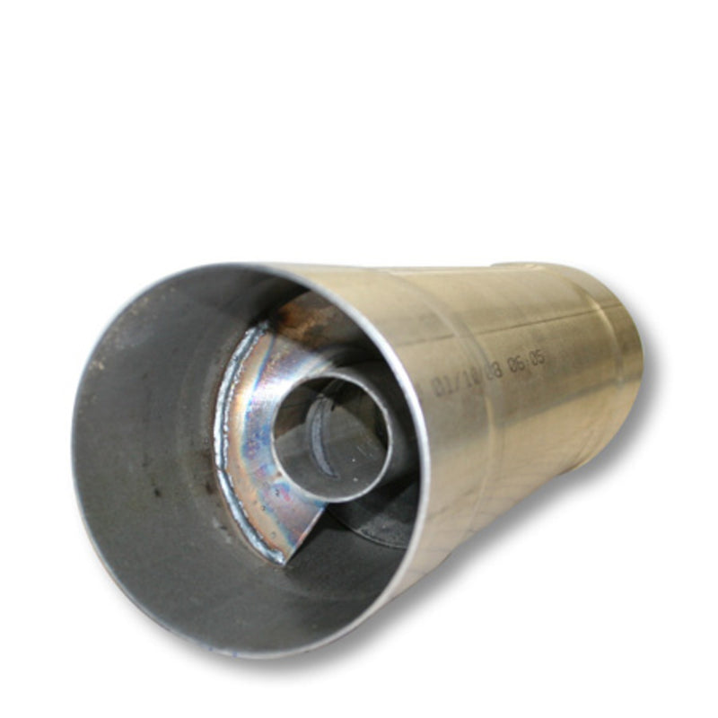 Exhaust Twister Race Muffler Aluminized 4in x 4in x 18in - 12in Body