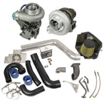 Super B Twin Turbo Kit w/FMW Billet Wheel on Secondary Dodge 1998.5-2002 24-valve