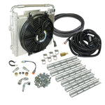 Xtrude Double Stacked Transmission Cooler with Fan - Complete Kit 1/2in Lines