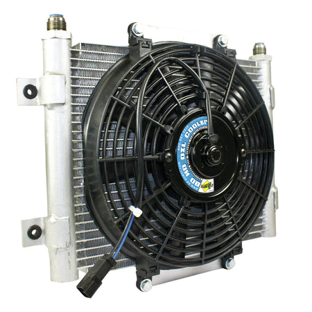 Xtrude Transmission Cooler with Fan -10 JIC Male Connection