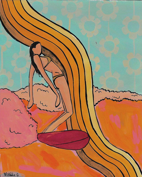 Addie Gibson surfer girl art