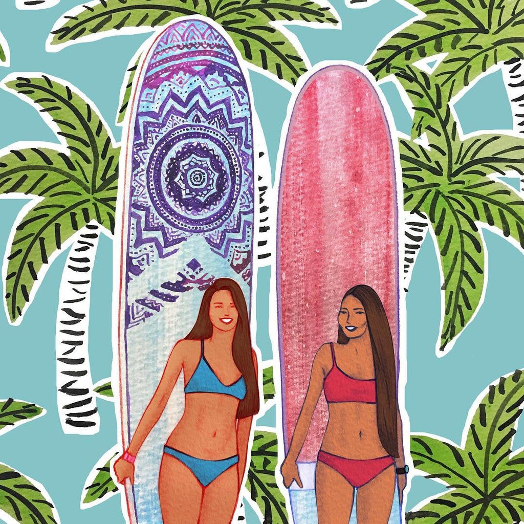 Her Waves interview Jeph surf girl art