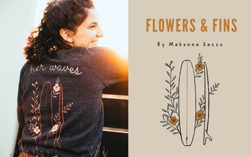 Her Waves Flowers & Fins spring collection