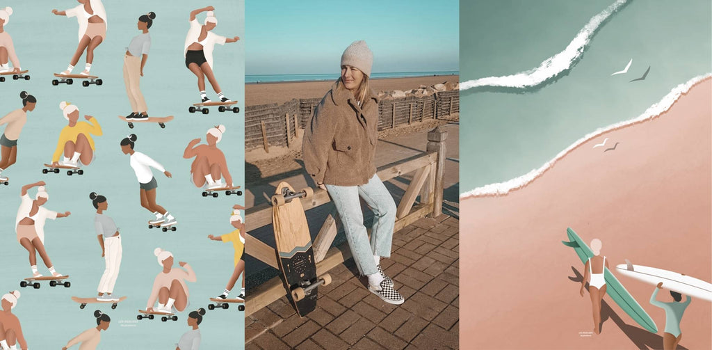 Interview with surf artist and illustrator Juliette Goux Les Rideuses