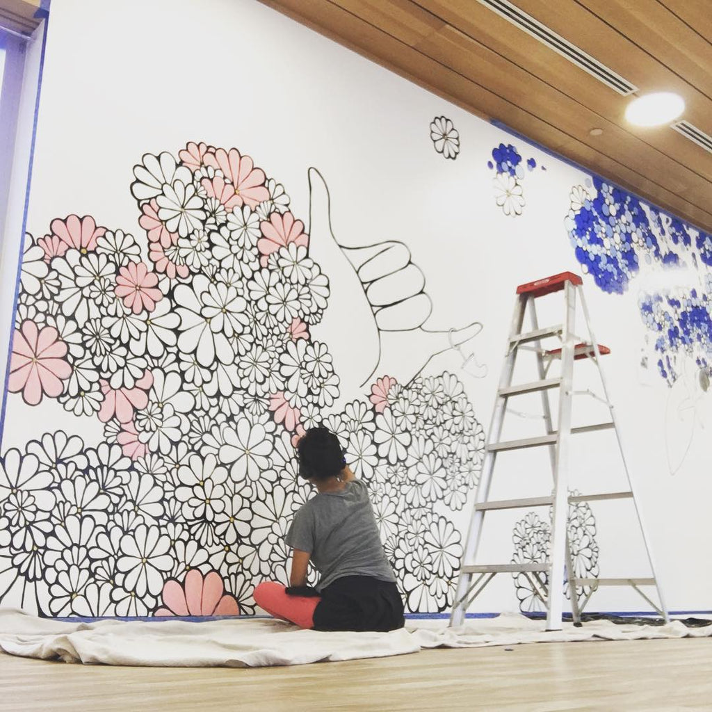 Kris Goto mural art her waves interview