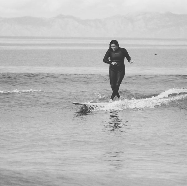 Vanessa Yeager surfing her waves interview