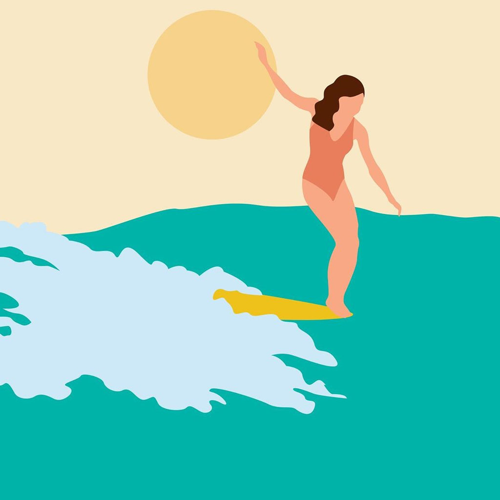 Her Waves interview Jeph surfing girl