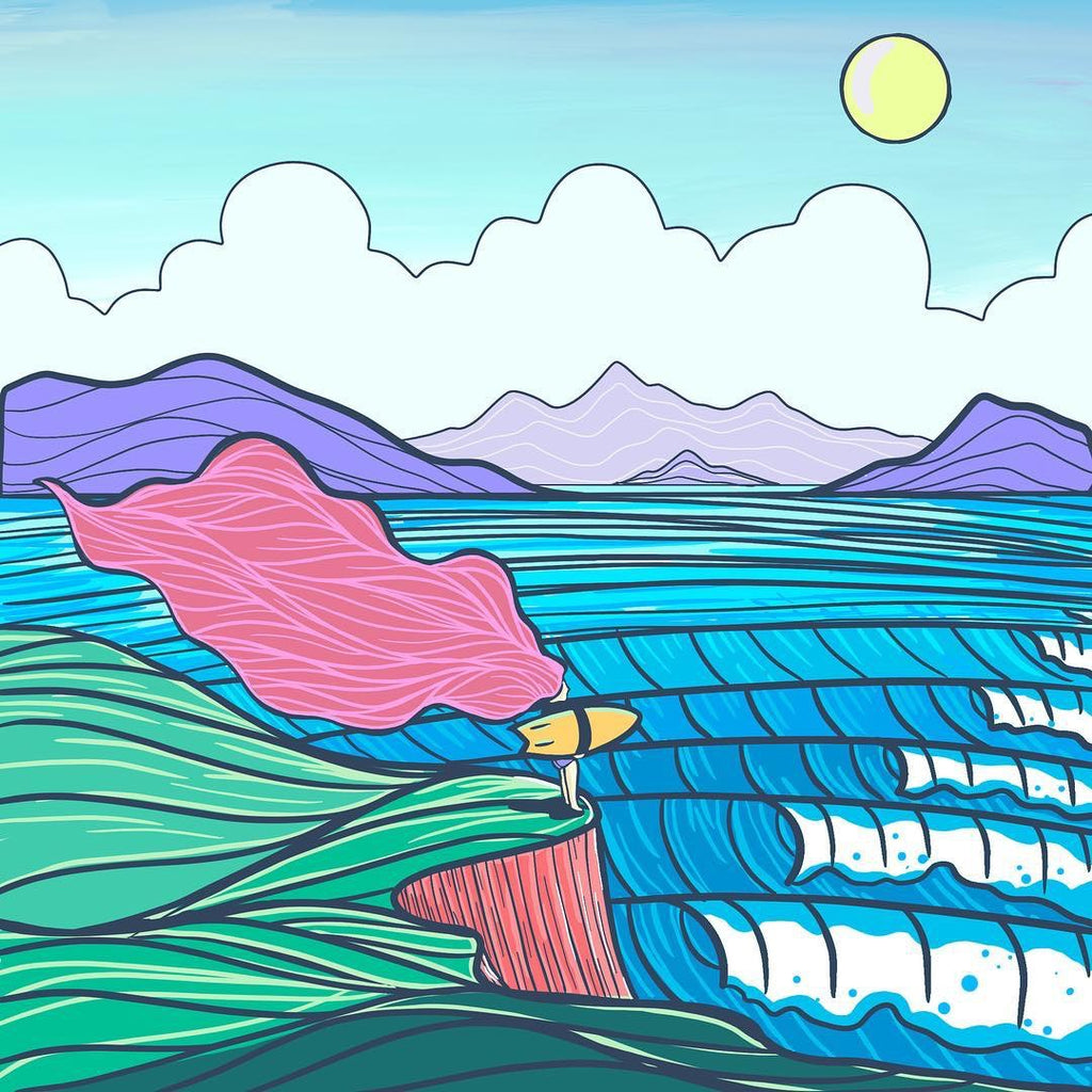 Hannah eddy surf art her waves