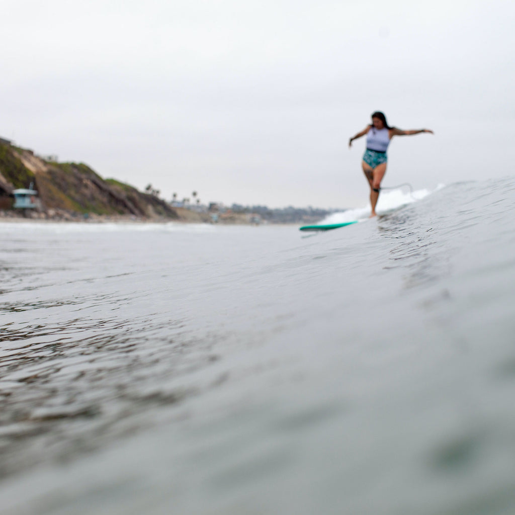 Angela Rivera surfing her waves interview