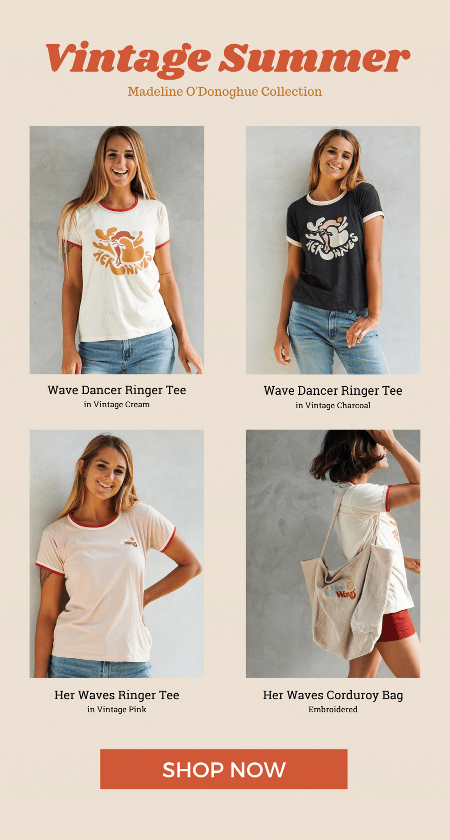 her waves vintage summer collection