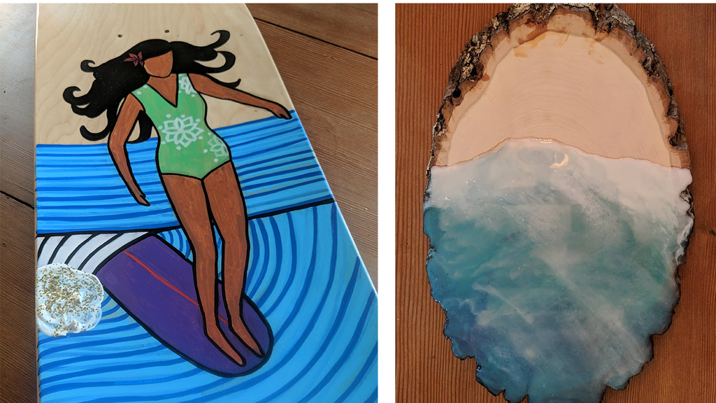 Danielle Salty Sol Art her waves