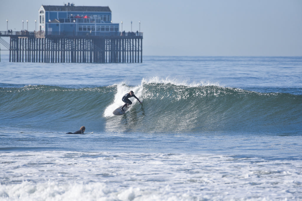 Deana surfing drop oceanside her waves