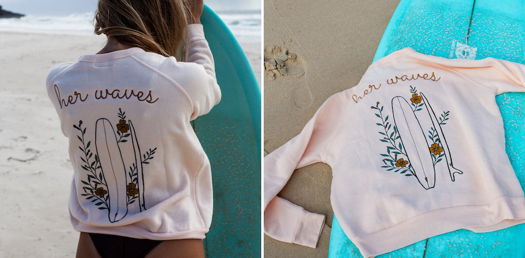 surf fashion pullover sweater