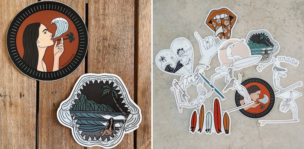 cool surf stickers
