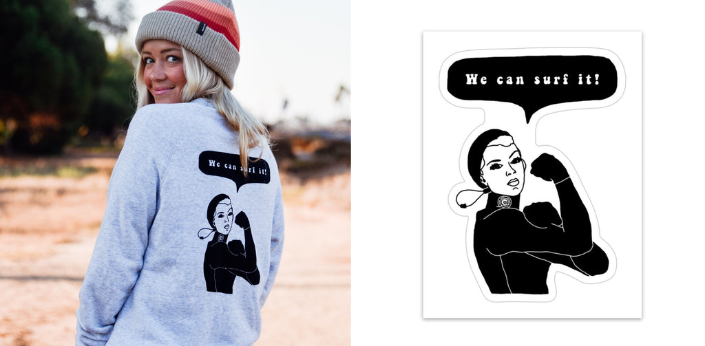 we can surf it sweatshirt