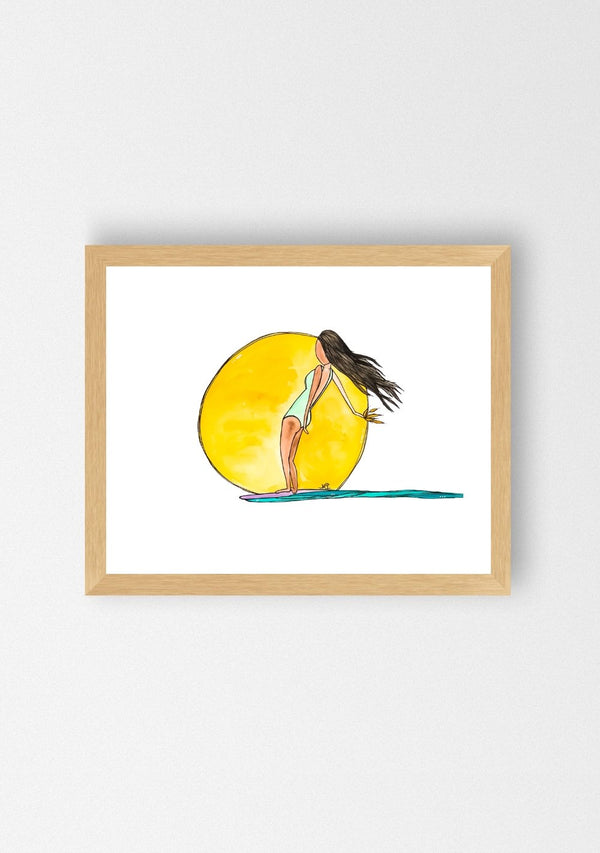 Kristina Young Surf art her waves prints
