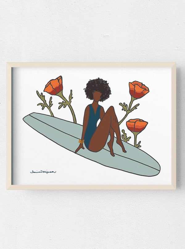 surf art salty sol artworks her waves