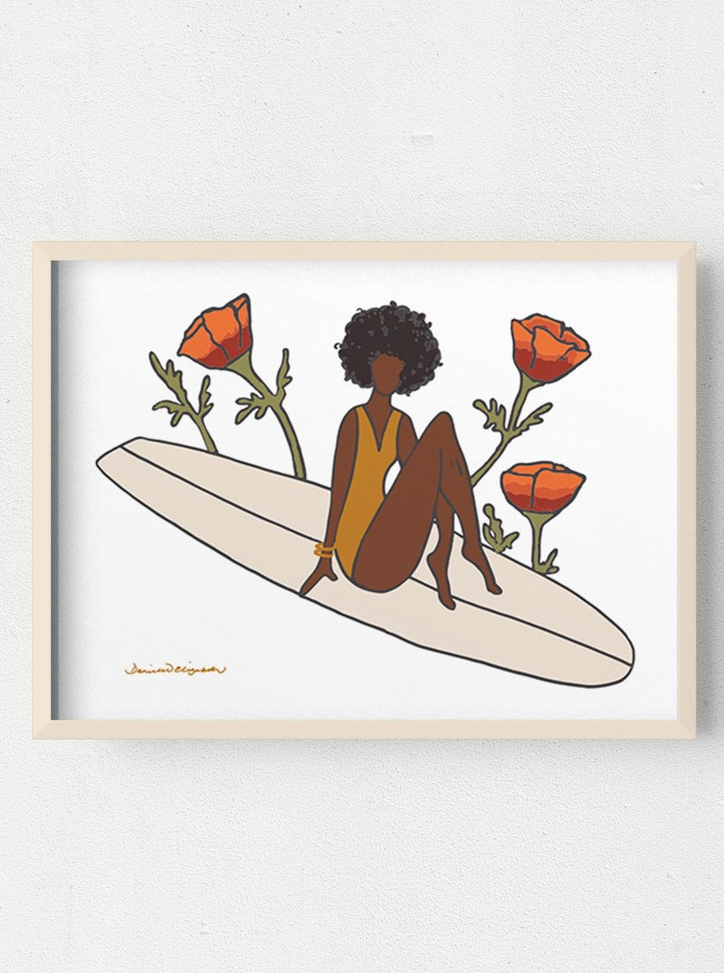 her waves surf art paddle out for peace
