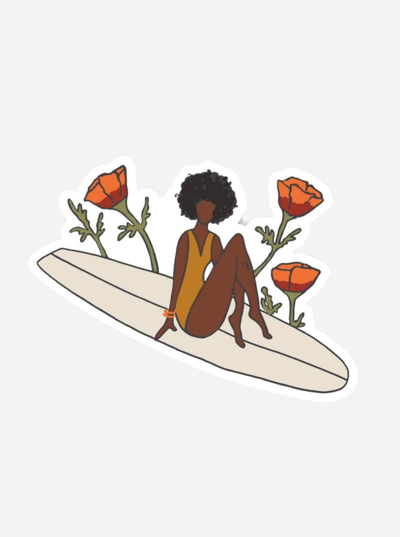 her waves surf sticker paddle out for peace