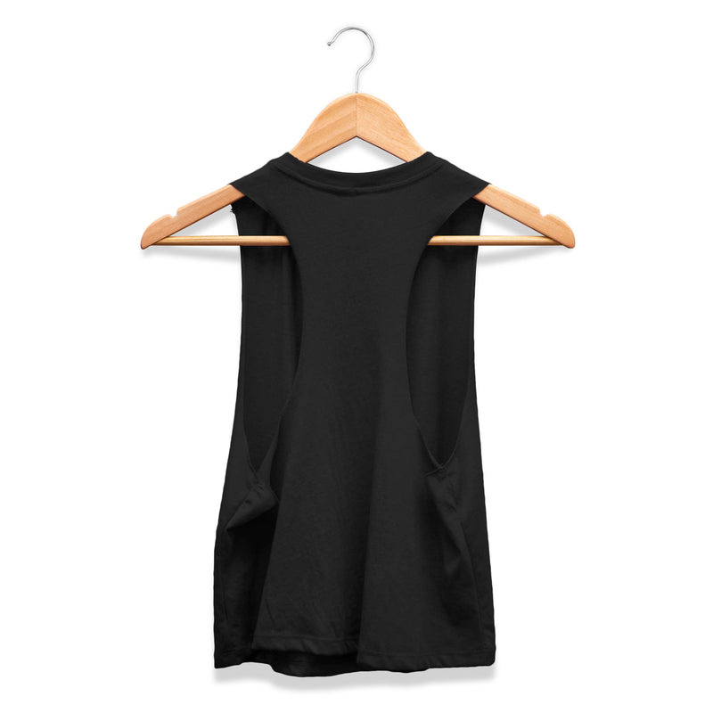 HerWaves Surfboards > Diamond black crop tank back